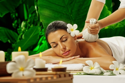 stock photo portrait of young beautiful woman in spa environment 132434978
