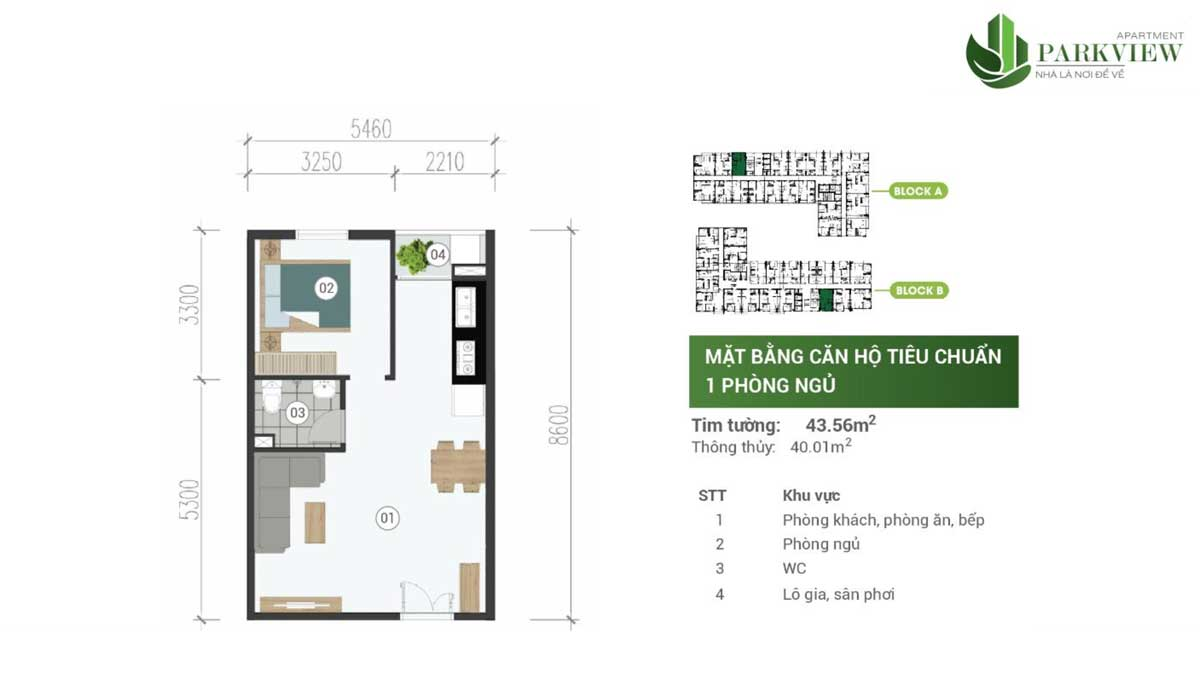 thiet ke can ho 1 pn can ho parkview apartment binh duong