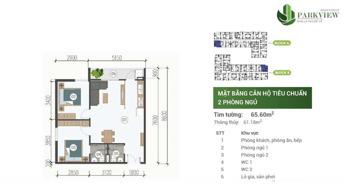 thiet ke can ho 2 pn 65m2 can ho parkview apartment binh duong
