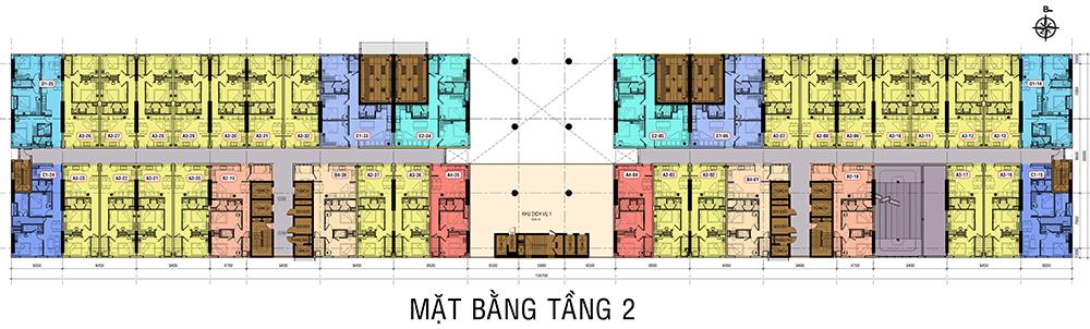 mat bang tang 2 dự án roxana plaza