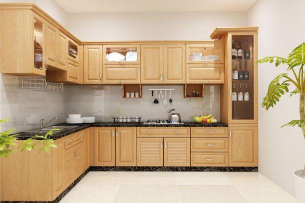 Những tủ bếp đơn giản nhưng khiến không gian bếp đẹp và sang đến không ngờ - Ảnh 1.